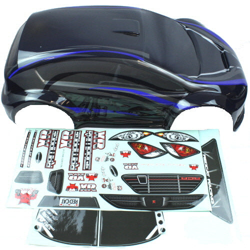 Redcat Racing ATV076-1 1/5  Rally Car Body, Rampage XR, Blue/Black | RedcatRacing.Toys