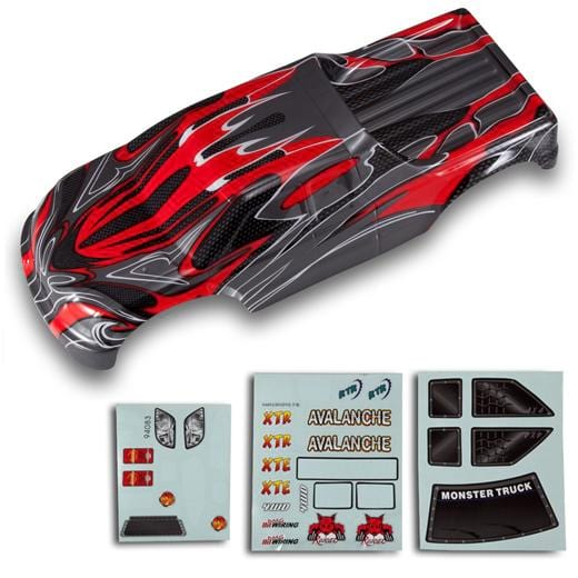 Redcat Racing 8311 1/8 Truck Body Red and Black 08311 | Redcat Racing