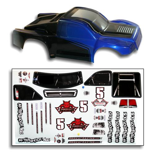 Redcat Racing BS804-002B 1/8 Short Course Truck Body Blue and Black BS804-002B | Redcat Racing