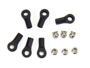 Redcat Racing 115027BK Ball End & 5.8mm Single Flanged Steel Ball (6) Black | RedcatRacing.Toys