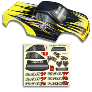 Redcat Racing 25188-3 1/10 Truck Body Black and Yellow  25188-3 | RedcatRacing.Toys