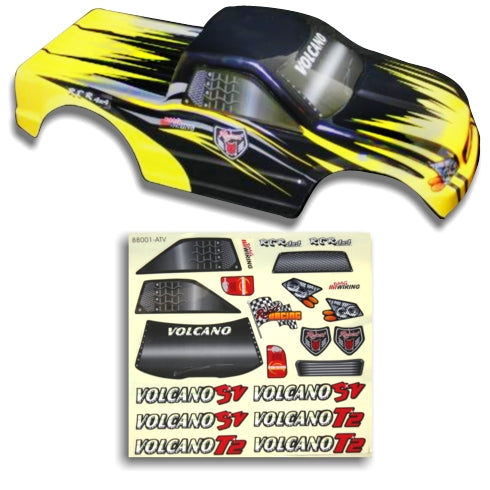Redcat Racing 25188-3 1/10 Truck Body Black and Yellow  25188-3 | Redcat Racing