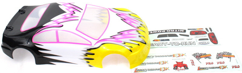 Redcat Racing 01012 1/10 Road Car Body, Pink and Yellow  01012 | Redcat Racing