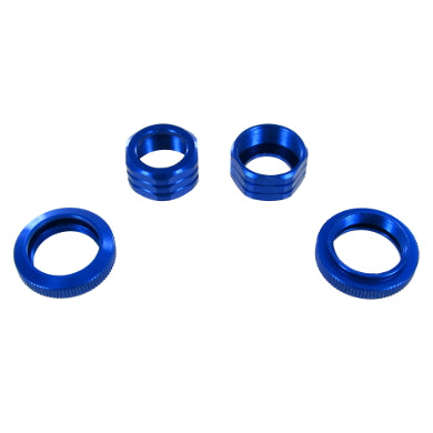 Redcat Racing 50128B Shock Absorber Caps and Spring Collars, Blue - RedcatRacing.Toys