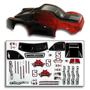Redcat Racing BS804-002R 1/8 Short Course Truck Body Red and Black BS804-002R | Redcat Racing
