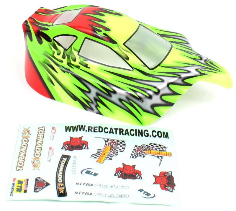 Redcat Racing 10707 1/10 Buggy Body Red and Green  10707 | Redcat Racing