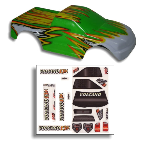 Redcat Racing 88009GY 1/10 Truck Body Green and Yellow  88009GY - RedcatRacing.Toys