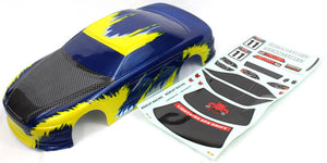 Redcat Racing 12305 1/10 Road Car Body, Blue and Yellow | Redcat Racing