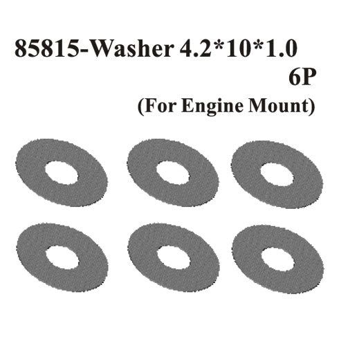 Redcat Racing 85855 Washer4.2*10*0.5(For Engine Mount) 6Pcs ~ | RedcatRacing.Toys