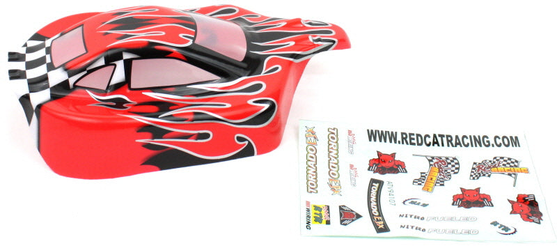 Redcat Racing 66200 1/10 Buggy Body Red Flame  66200 | Redcat Racing