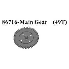 Redcat Racing Steel 49t Spur Gear  MONSOON XTR 86716 - DISCONTINUED | RedcatRacing.Toys