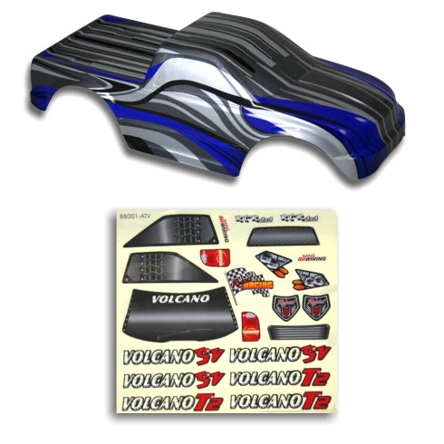 Redcat Racing 88021BB 1/10 Truck Body Black and Blue  88021BB | Redcat Racing