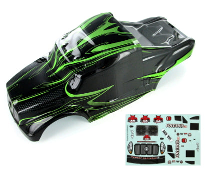 Redcat Racing 1/10 Semi Truck Body, Grey and Green 88035-NEW | RedcatRacing.Toys