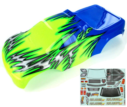 Redcat Racing 8704 1/8 Truck Body Blue and Green 08704 | Redcat Racing