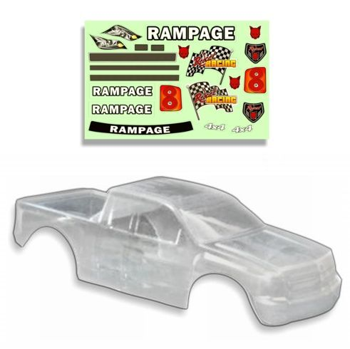 Redcat Racing 1/5 Truck Body, Clear RAMPAGE MT,RAMPAGEXT 50901-Clear - RedcatRacing.Toys
