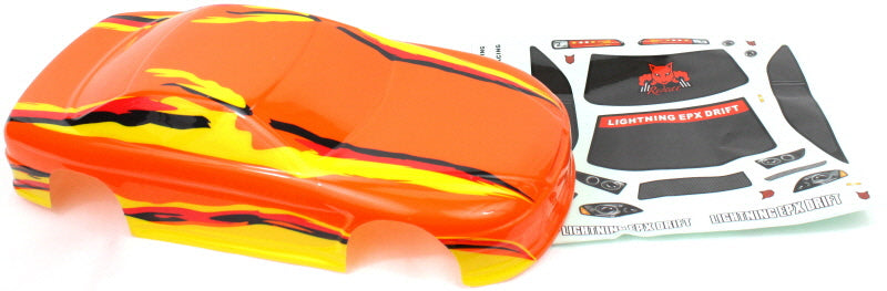 Redcat Racing 12306 1/10 Road Car Body, Orange and Yellow - RedcatRacing.Toys