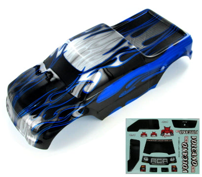 Redcat Racing  1/10 Truck Body, Black and Blue 88049-BL | Redcat Racing