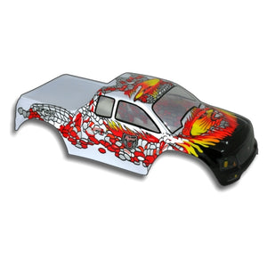 Redcat Racing 88015SR 1/10 Truck Body Silver and Red  88015SR | Redcat Racing