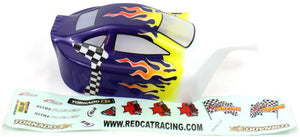 Redcat Racing 05027P 1/10 Buggy Body Purple Flame - RedcatRacing.Toys