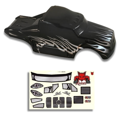 Redcat Racing 88035 1/10 Semi Truck Body Black and Silver  88035 | Redcat Racing
