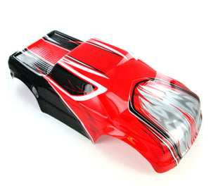 Redcat Racing R1101 Monster Truck Body, Red, Black and Silver - RedcatRacing.Toys
