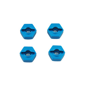 Redcat Racing Aluminum Wheel Hex (4pcs)(12mm)(Blue) 02134B | Redcat Racing