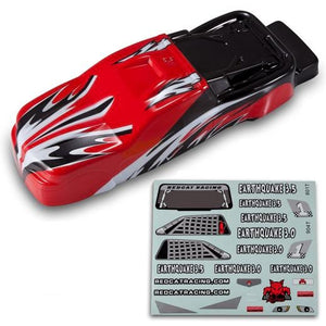 Redcat Racing BS904-013R 1/8 Truck Body Red and Black BS904-013R | RedcatRacing.Toys