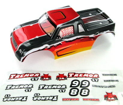 Redcat Racing 17002 Tremor ST Truck Body, Red | Redcat Racing