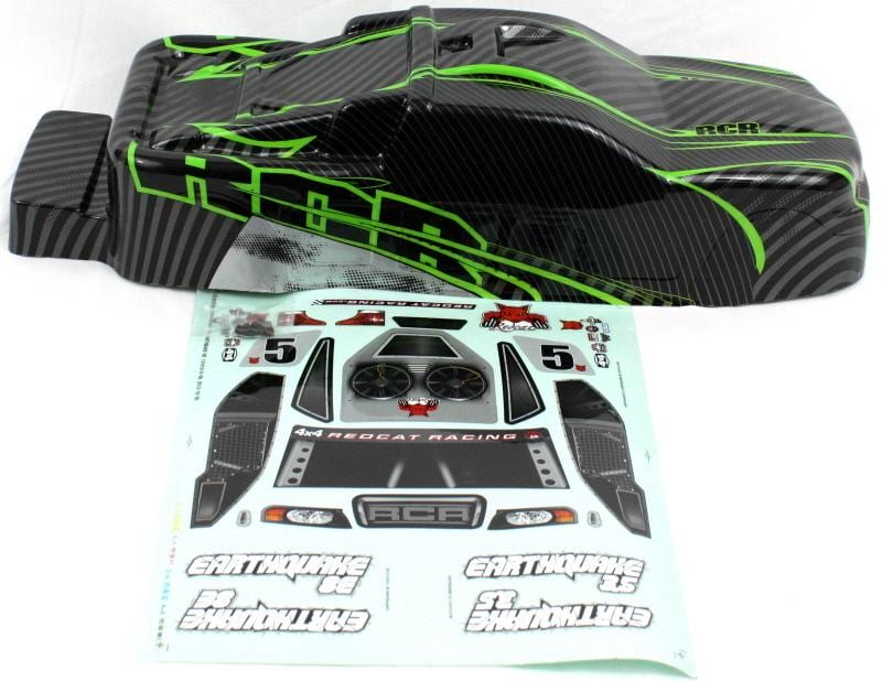 Redcat Racing BS801-017G Earthquake Body Green and Black  BS801-017G - RedcatRacing.Toys