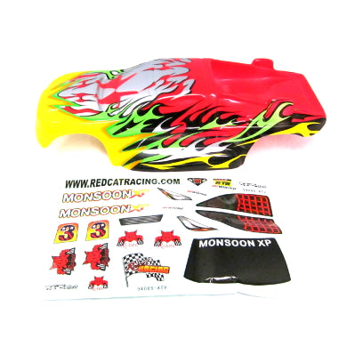 Redcat Racing Monsoon Body, Yellow and Red 94085 - RedcatRacing.Toys