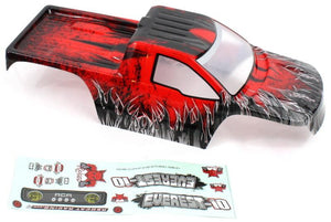 Redcat Racing R180-R 1/10 Rock Crawler Body, Red  R180-R | Redcat Racing