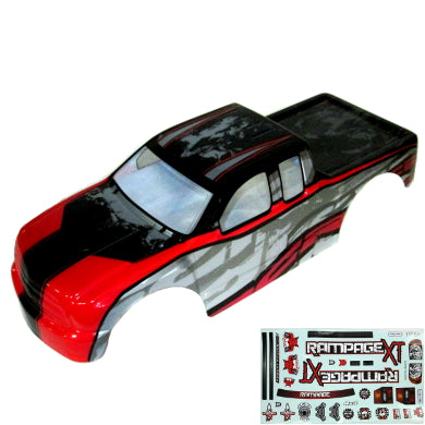 Redcat Racing ATV070-R 1/5 Rampage Truck Body, Red | Redcat Racing