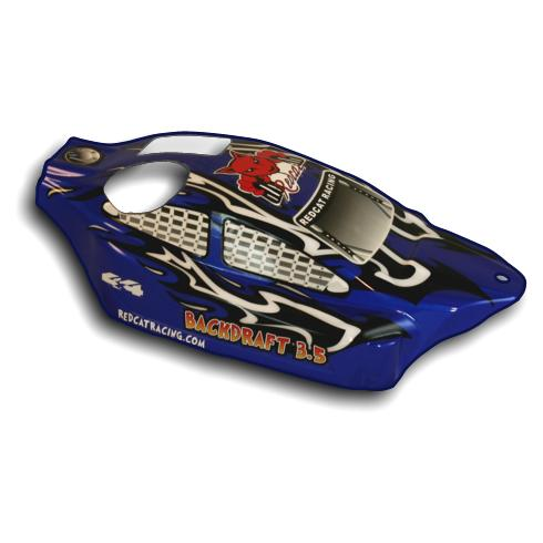Redcat Racing BS802-002 1/8 Backdraft Nitro Buggy Body Blue and Black | RedcatRacing.Toys