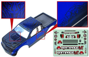 Redcat Racing 14050-BL  1/5 Truck Body, Blue and Black  14050-BL - RedcatRacing.Toys