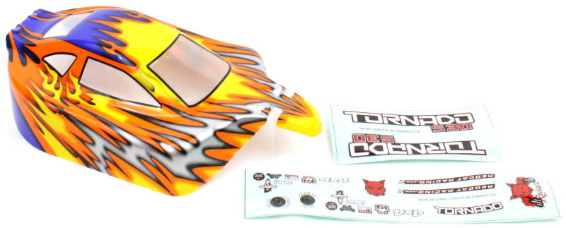 Redcat Racing 10706 1/10 Buggy Body Orange and Blue  10706 | RedcatRacing.Toys