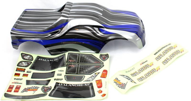 Redcat Racing 08705 1/8 Truck Body Blue and Black 08705 | RedcatRacing.Toys