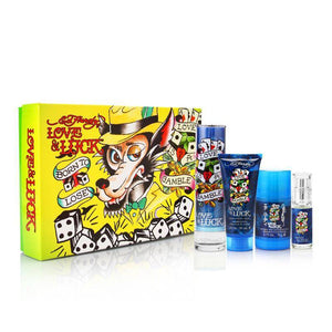 "Ed Hardy Love and Luck ""Wolf"" By Christian Audigier Cologne Gift Set For Men"