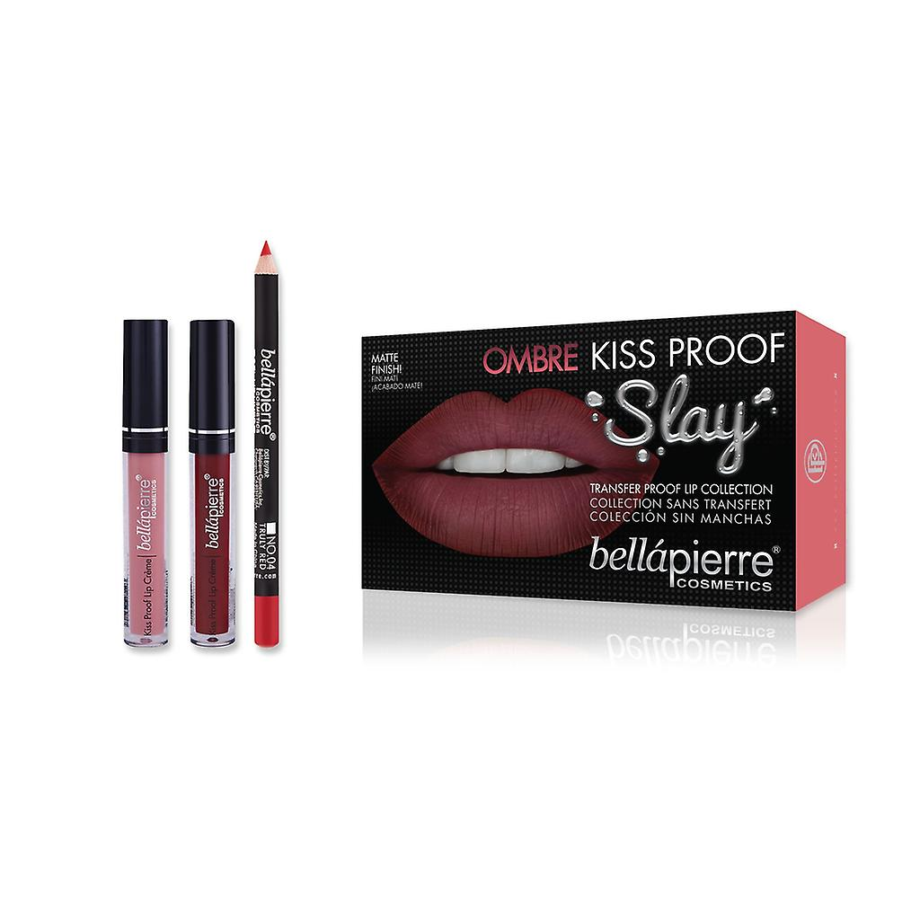 Bellapierre Kiss Proof Slay Lip Kit - 40's Red