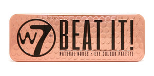 W7 Beat It! Eyeshadow Palette. A Rose Gold tin.