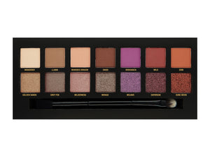 W7 Dusk Till Dawn Eyeshadow Palette Colours