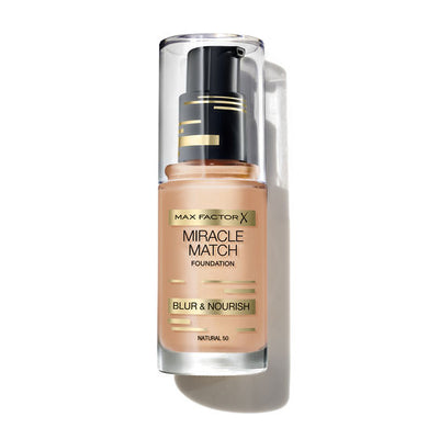 Max Factor Miracle Match Blur & Nourish Foundation 30ml - Nude 47