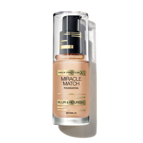 Max Factor Miracle Match Blur & Nourish Foundation 30ml - Light Ivory 40