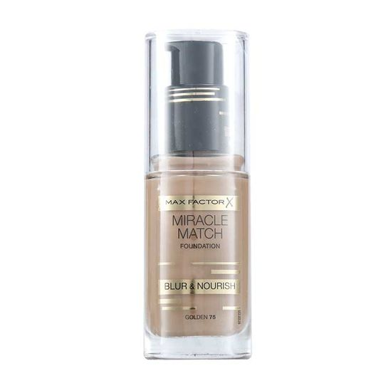Max Factor Miracle Match Blur & Nourish Foundation 30ml - Golden 75