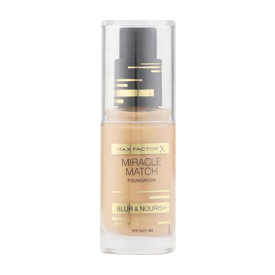 Max Factor Miracle Match Blur & Nourish Foundation 30ml - Bronze 80