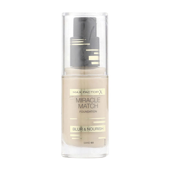 Max Factor Miracle Match Blur & Nourish Foundation 30ml - Sand 60