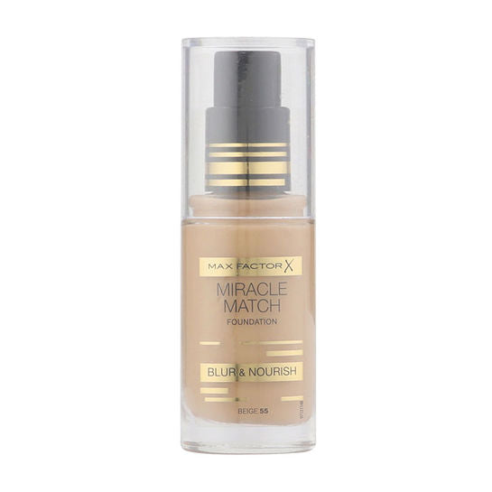 Max Factor Miracle Match Blur & Nourish Foundation 30ml - Beige 55