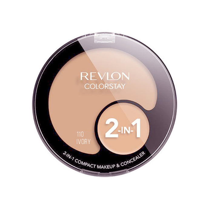 Revlon ColorStay 2-in-1 Compact Makeup and Concealer - Ivory