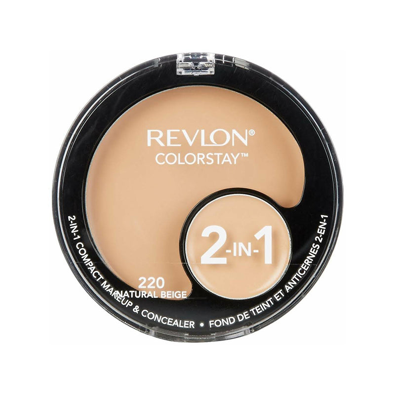 Revlon ColorStay 2-in-1 Compact Makeup and Concealer - Natural Beige