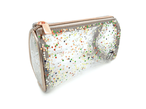 Clear Glitter Cosmetics Bag