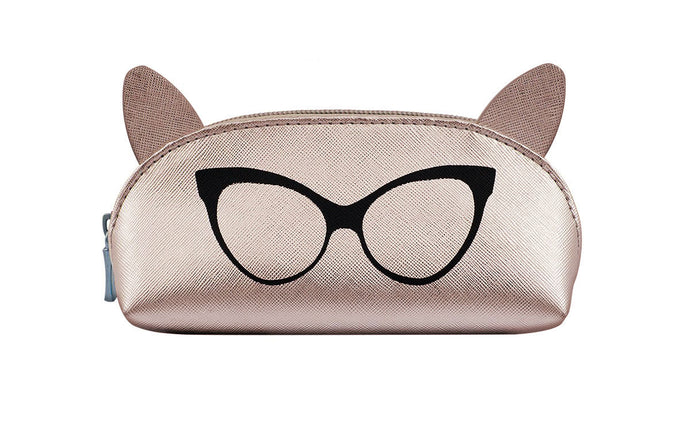 Perverse The Sunglass Unicorn Cat Ear Pouch - Rose Gold